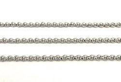 Rostfritt stål ärtlänk 2 mm, 10 m