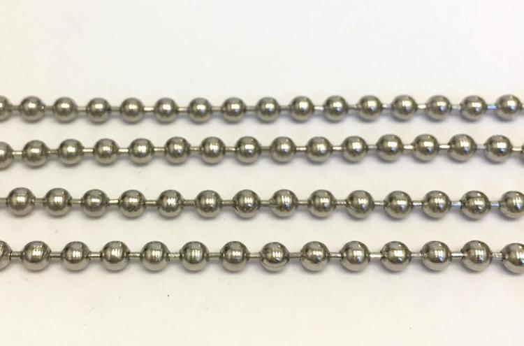 Rostfritt stål kulkedja 1.5 mm, 1 m