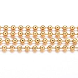 Guldfärgat rostfritt stål kulkedja 2.5 mm, 1 m