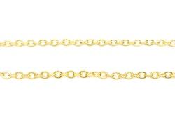 Guldfärgad kedja 3 mm slutna öglor, 1 m