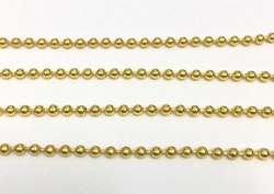 Guldfärgad kulkedja 2.3 mm, 10 m