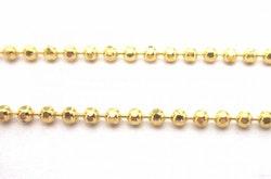 Guldfärgad facetterad kulkedja 1 mm, 10 m