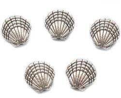 Antikfärgade pärlor snäckor, 10 st