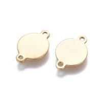 Guldfärgat rostfritt stål connector tag, 1 st