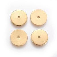 Guldfärgat rostfritt stål tunna rondeller 6 mm, 10 st