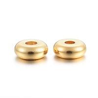 Guldfärgat rostfritt stål rondeller 6 mm, 10 st