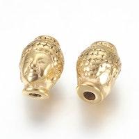 Guldfärgat rostfritt stål mönstrad buddha, 1 st