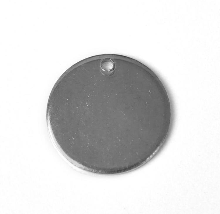 Rostfritt stål runda tags 10 mm, 10 st