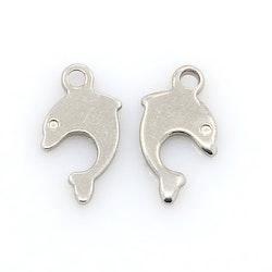 Rostfritt stål berlock delfin, 10 st