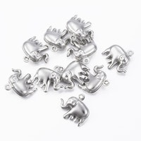 Rostfritt stål berlock elefant, 1 st