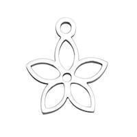 Rostfritt stål berlock enkel blomma, 1 st
