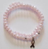 Rostfritt stål berlock rosa bandet, 1 st