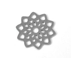Rostfritt stål berlock blomma, 1 st