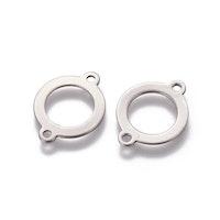 Rostfritt stål connector ring, 1 st