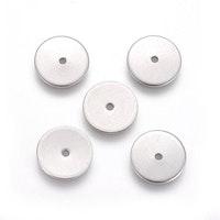 Rostfritt stål tunna rondeller 6 mm, 10 st