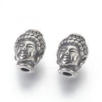 Rostfritt stål mönstrad buddha, 1 st