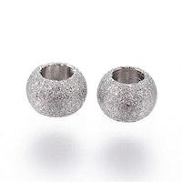 Rostfritt stål stardust pärla 4 mm antik, 10 st