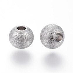 Rostfritt stål stardust pärla 6 mm antik, 1 st