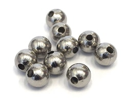 Rostfritt stål pärlor 8 mm, 10 st
