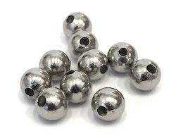Rostfritt stål pärlor 4 mm, ca 50 st