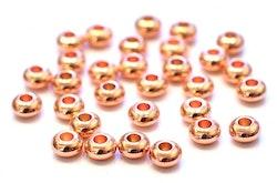 Roséfärgade rondeller 4 mm, 20 st