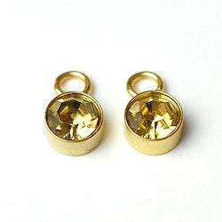 Guldfärgat rostfritt stål berlock, guld, 1 st