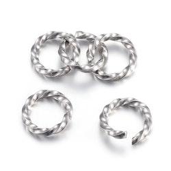 Rostfritt stål, snurrad bindring, 1 st
