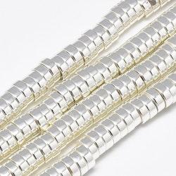Silverfärgad hematit rondeller 6x2 mm, 1 sträng