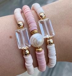 Armband - Heishi och glas