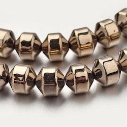 Bronzefärgad hematit facetterade 8 mm, 10 st