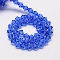 Bicone 4 mm blå, 1 sträng