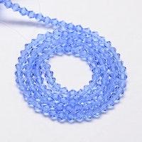 Bicone 4 mm ljusblå, 1 sträng