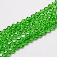 Bicone 4 mm grön, 1 sträng