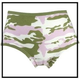 Damtrosa, camouflagemönstrad