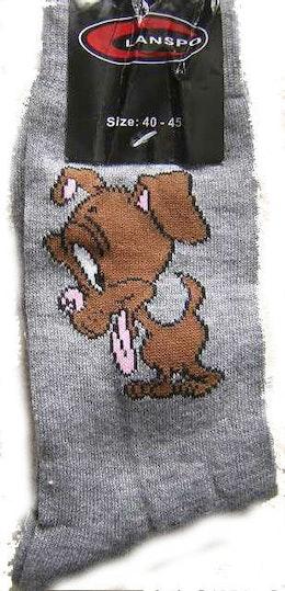 Mönstrad Ankelsock Hundmotiv  40-45