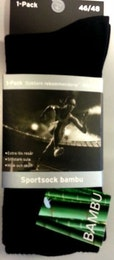 Sportsock i Bambu m Lös Resår