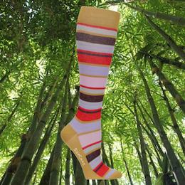 Stödstrumpa i Bambu Randig 15-21 mmHg