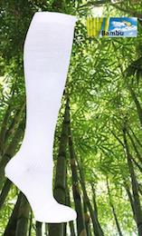 Bambu stödstrumpa Vit