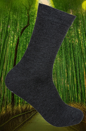 Ankelsock Bambu m Komfortresår  Grafitgrå