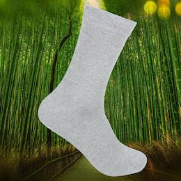 Ankelsock Bambu m Komfortresår Ljusgrå
