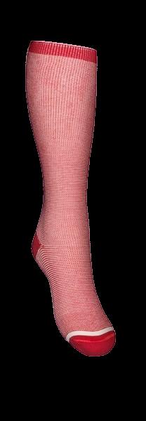 Medicinsk stödstrumpor  Jeans Röd/natur. StrumpBoden