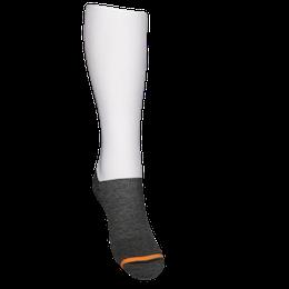 Stödstrumpa Vit sportstrumpa med Grå Merinoull i foten