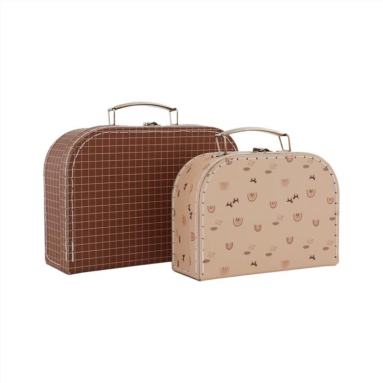OYOY Mini Suitcase Rainbow & Grid
