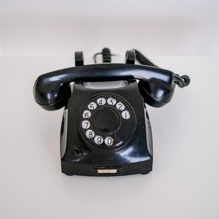 Sort telefon fra Telegrafverket
