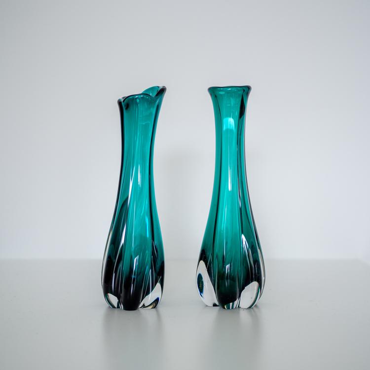 Turkise glassvaser