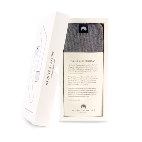 Lång Ullstrumpa – Foggy Gray