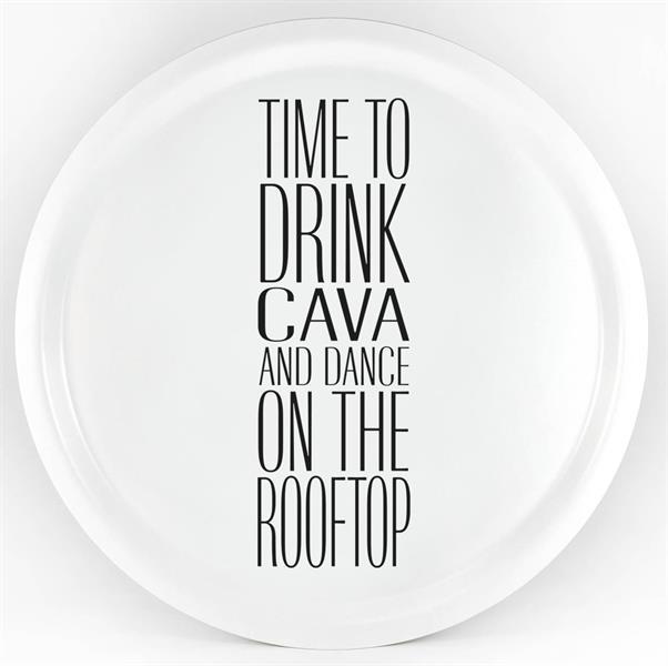 "Bricka ""Time To Drink Cava"""