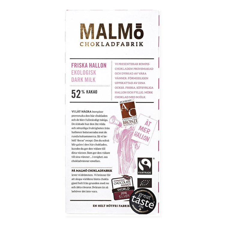 "Malmö Choklad ""Friska Hallon"""