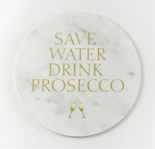 """Glasunderlägg """"Save Water Drink Prosecco"""" 4-pack"""
