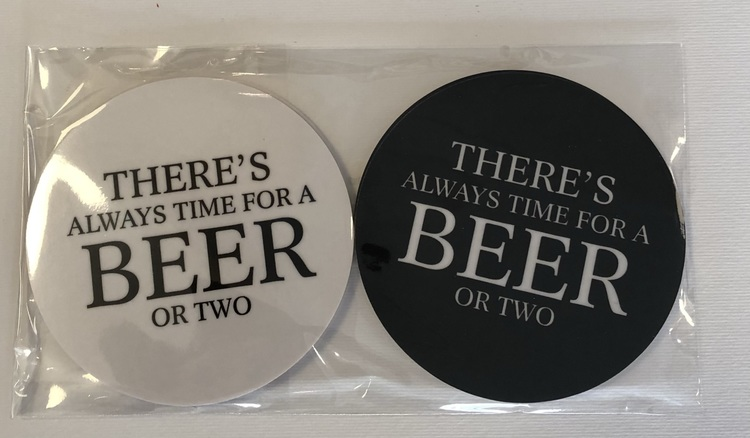 """Glasunderlägg """" There's Always Time For a Beer"""" 4-pack"""